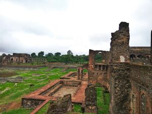 Mandu near indore is haven for monsoon lover. The place turns into green and the famous jahaz mahal.
