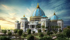 "Mayapur Iskcon – ""The Spiritual &Kirtan Capital of the           World""#Goodvibes#Majesticview#Peace"