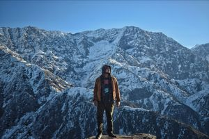 At the foot of Dhauladhar range(Triund)