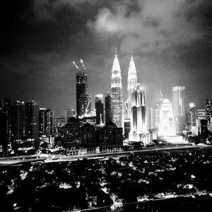 Black and White Twin Tower,Kuala Lumpur