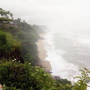 Varkala Cliff in Varkala in Kerala