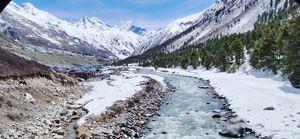 Chitkul 13th April 2019.. freezing water of vaspa river..