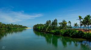 Backwaters, Kappil Beach, Kerala