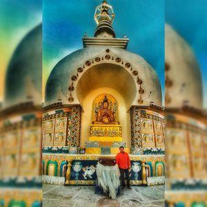 Peaceful Place of Leh Shanti Stupa