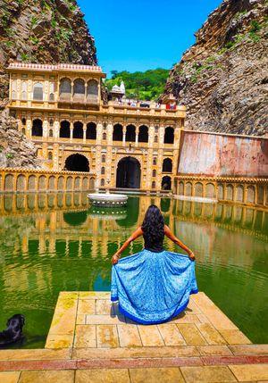 GaltaJi Monkey Temple, Jaipur