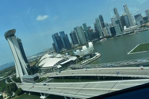View from the window of Singapore flyer#viewfromthetop