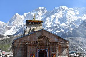 Glimpse of kedarnath temple