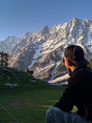Triund (snow line,Himachal pradesh)
