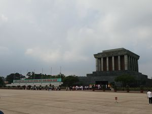 "Ho Chi Minh Mausoleum-""Uncle Ho"" body preserved here so well for 40+ years -The Final Resting Place"