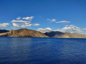 Pangong lake the place that looks like a painting straight out of the canvas