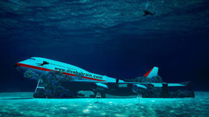 World's Largest Eco-friendly Underwater Theme Park with a sunken Boeing 747 is now in Bahrain !!!