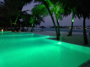 By the poolside #Colourgreen #Contest