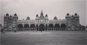 Palace and the Nature.    Mysore palace