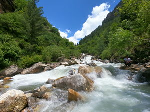 Waterfalls  and  Milky  Streams of Pangi Valley | The barter Trade routs to Leh.