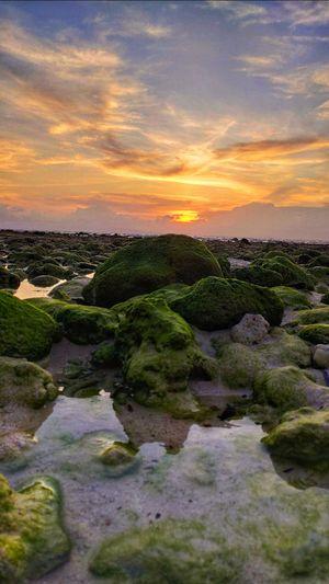 Sunset at Laxmanpur Beach no.1 at Andaman & Nicobar Group of Islands