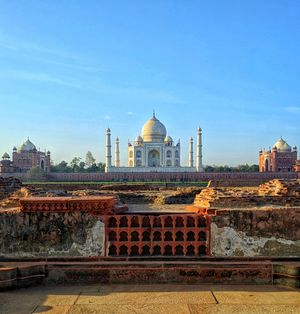 A view of Taj Mahal from Sketchy Black Taj Mahal.