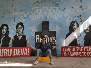Mural Arts inside the Beatles Ashram