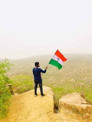 Beyond this is Pakistan, Border view from Lakhpath,Gujarat