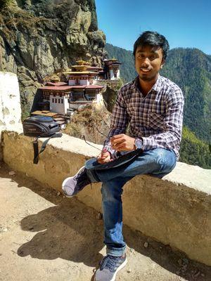 Mountainside Himalayan Buddhist sacred site
