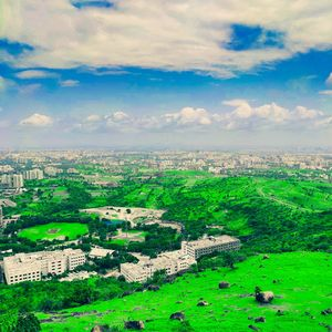 Kondhwa hills in Maharashtra, A magnificent view of the city.