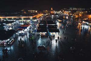 Jmaa el Fna at night