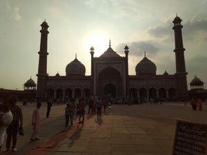 delhi darshan ...............#jama masjid# red fort and sun dail
