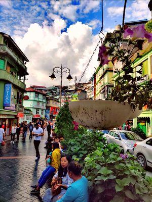 Mall Road of Gangtok