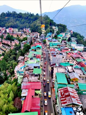 City view from Ropeway (Gangtok)
