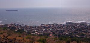 A Village on thw sea shore.