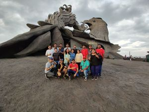 WORLD'S LARGEST BIRD STATUE AT JADAYU PARA EARTH'S CENTRE