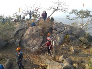 Rock climbing at Mathabaru hills,Purulia  with DIATM MOUNTAINEERING CLUB AND WORLD EXPLORERS.
