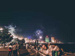 Diwali Celebration at Marine Drive, Mumbai