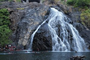A deadly combination of greenery , water and hills -  Dudh Sagar Water falls