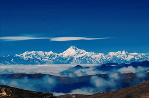 Mt Kanchenjunga on old silk route zuluk.