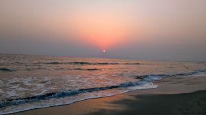 Sunset at Cox's Bazaar, Bangladesh