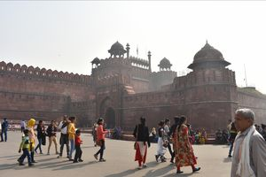 Architecture don't parody history, but articulates it.... Red Fort....