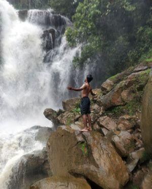 Do one thing every day that scares you..#shirley falls#Uttar kannada#Yellapura#Go Green..