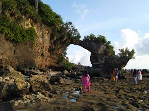 "Here it's ""natural bridge"" of andaman islands. This bridge is made up of sand,stones and dead corals"