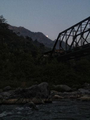 Moon Rise with the hills and river, just 15 mins away from city.