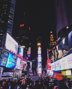 Wonderful night life at Times Square NY.