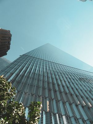 New York city freedom tower , really reaches the heights