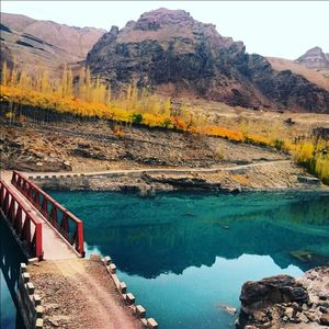 Indus scene in the season of autumn in ladakh