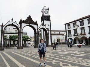 A Rainy Walk Through Ponta Delgada, Azores