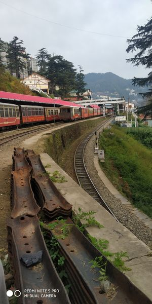 Waiting for toy train at Shimla station.