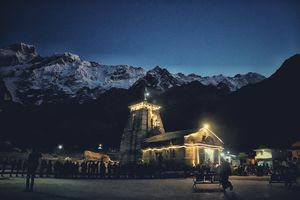 Mesmerizing view of Kedarnath Temple