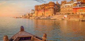 Ganga ghat varanasi,uttar pradesh.