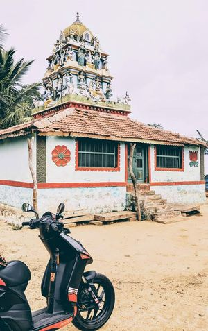 Scootouring to Bettamugilalam, a quaint village nestled amidst hills.
