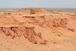 Flaming cliffs of Mongolian Gobi