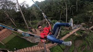 Swinging #SelfieWithAView bcz I wanna go back to Bali with #TripotiCommunity ????
