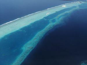 Landing's like this...@Maldives